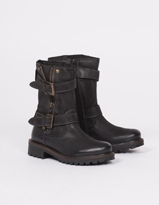 Leather Biker Boots for Women