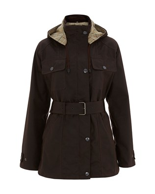 7118 BELTED WAXED COTTON HOODED JACKET_ANTIQUE BROWN_FRONT_AW15.jpg