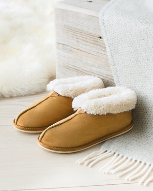 Ladies' Sheepskin Bootee Slippers