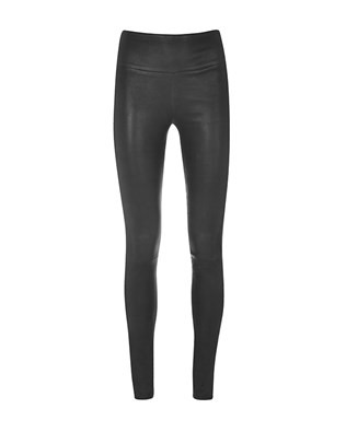 Stretch Leather Leggings - Size 16 - Black - 1606