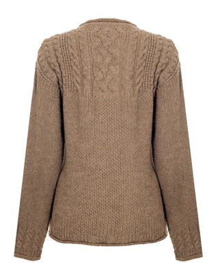 6876 celtic cable jumper_mid brown_back_aw15 .jpg