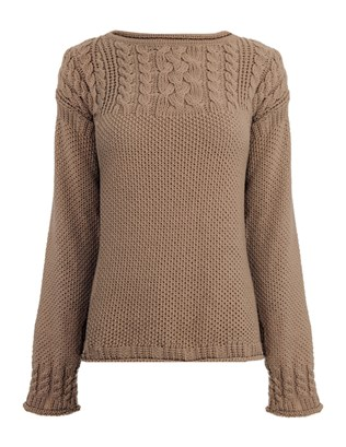 6876 celtic cable jumper_mid brown_front_aw15 .jpg