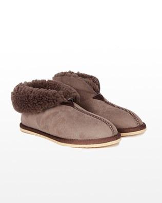 Sheepskin Bootee Slipper - Size 7 - Vole - 1171