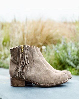 Fringed Ankle Boots