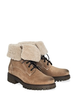 Sheepskin Trim Hiker Boots