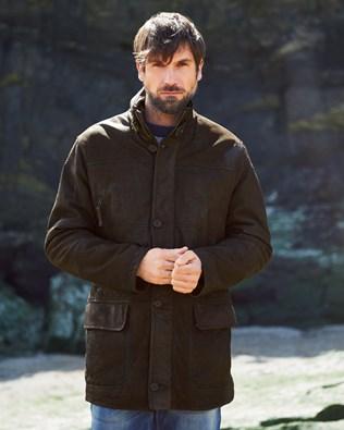 Men's Leather 4 Pocket Coat