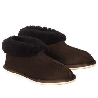 Ladies Bootee Slipper - Darkest Brown - Size 9 - 2504