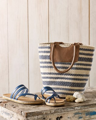 Woven Stripe Bucket Bag