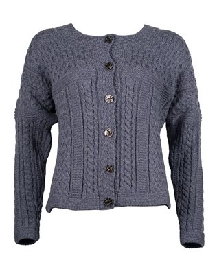Cable Cardi - Small - Blue Haze