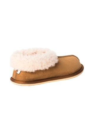 2100 sheepskin bootee slipper_spice_back a.jpg