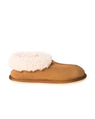 2100 sheepskin bootee slipper_spice_side a.jpg