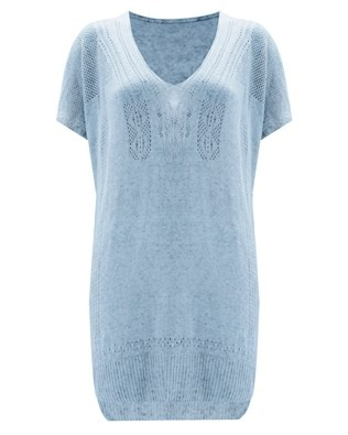 Poncho Tunic - Size Small - Sky Blue