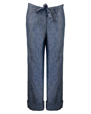 Cotton Linen Trouser - Size Small - Chambray