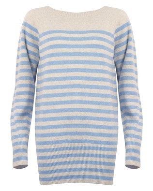 Supersoft Jumper - Size Small - Blue Stripe