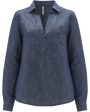 Chambray Swing Shirt - Size Small - Chambray