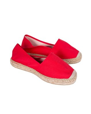 Flat Espadrille - Size 36 - Red