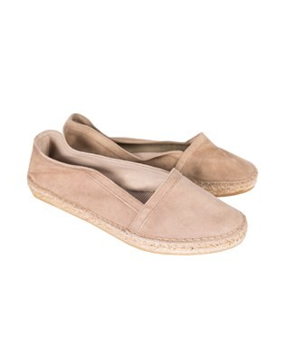 Suede Venetian Espadrille - Size 37 - Taupe - 60