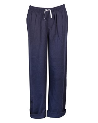 100% Cotton Herringbone Lounge Pant - Size 10 - Navy