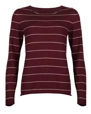 7036_fine knit merino crew neck_berry deep stripe_front_aw17.jpg