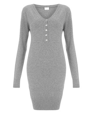 7093_v-neck_henley_jumper_dress_grey marl_front_aw17.jpg