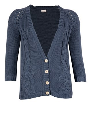 Cotton Cardi – Size Small – Denim Blue