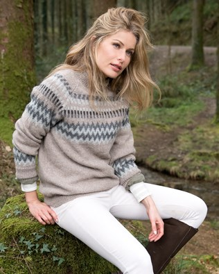Fair Isle Funnel Neck Sweater