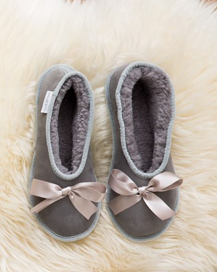 Sheepskin Ballet Slippers