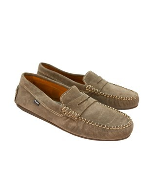 Suede Moccasin - Size 43 - Grey