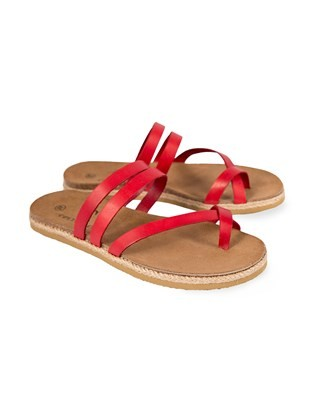 Toe Strap Sandals – Size 40 – Red Leather