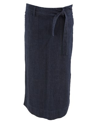 Chambray Skirt - Size Small - Blue