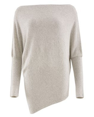 Slash Neck Batwing Jumper - Size Small - Marble