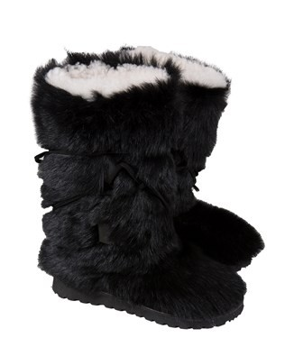Alpine Calf Boots - Size 6 - Black