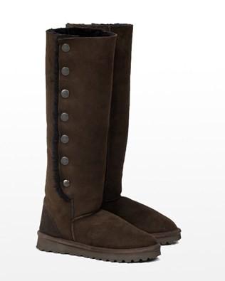 Celt Popper Knee Boot - Size 3 - Mocca