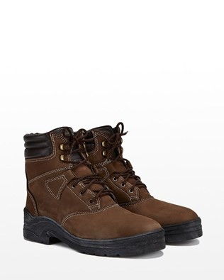 Sheepskin Lined Walking Boot - Size 6 - Brown