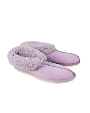 Sheepskin Bootee Slipper - Size 9 - Lilac 200