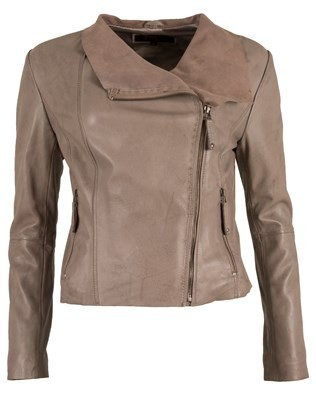 Suede Waterfall Front Jacket - Size 8
