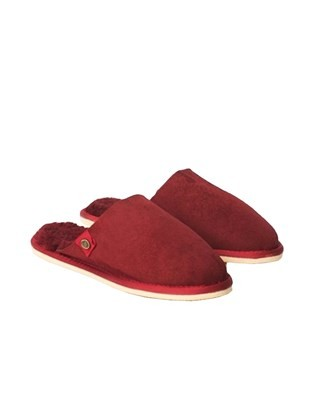 Ladies Sheepskin Mules - Size 5 - Red 239