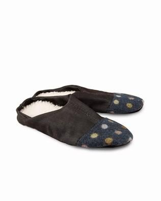 Hotchotch Slipper - Large - Blue spot / Denim