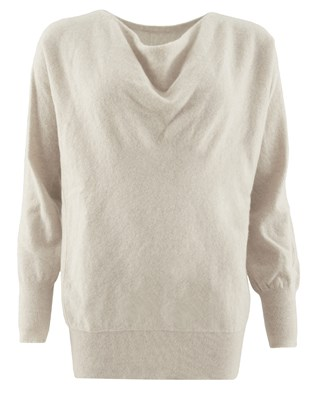 Soft Cowl Jumper - Small - Swansdown - 1449