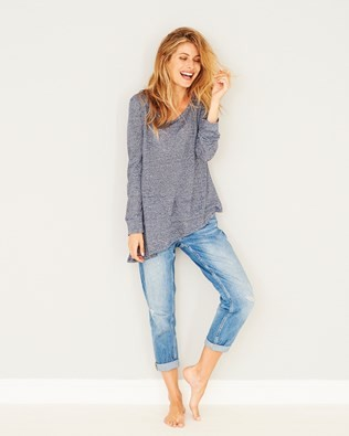 Linen Tapered Hem Top