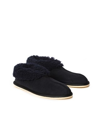6618 men's sheepskin bootee slipper_navy_pair2.jpg