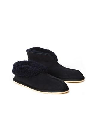 6618 men's sheepskin bootee slipper_navy_pair3.jpg