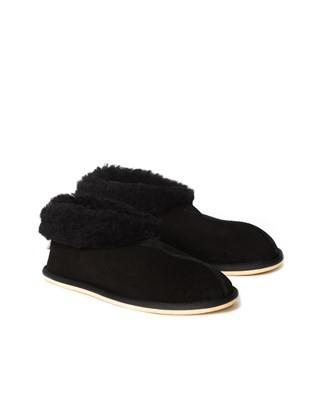 Mens Sheepskin Bootee Slipper - Black - Size 9 - 2501