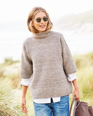 Kimono Funnel Neck Sweater