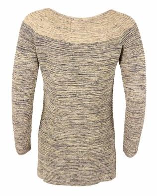 470- yoke detail tunic- small- multi grey and yellow- back.jpg