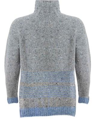 481- stitch strip hem jumper - grey light blue- back.jpg