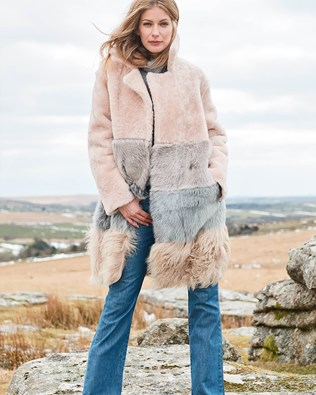 Shearling Colourblock Coat