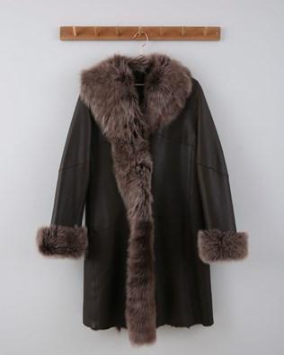 3/4 Toscana Trim Coat - Size XS / S - Dark Brown - 650