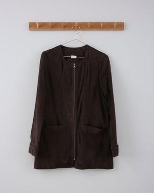 Suede Jacket - Size 8-10 - Mocca 629