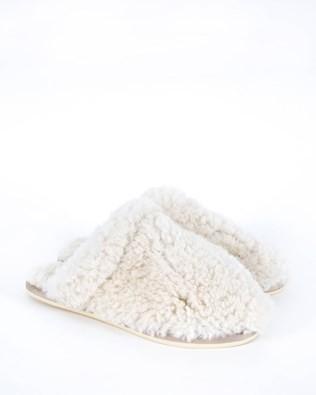 Sheepskin Mules - Size 6 - Oatmeal 573